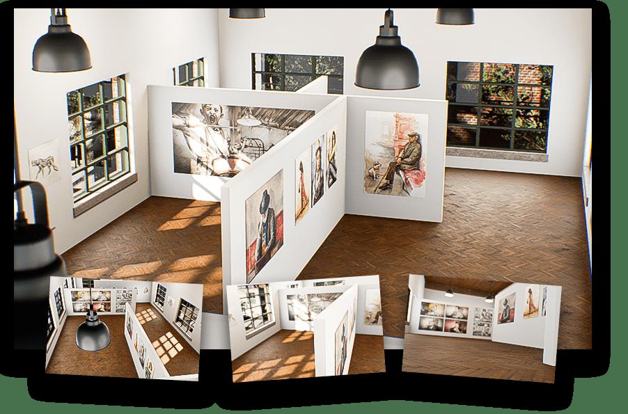 Virtuelle Galerien und 360 Grad Welten von wylder