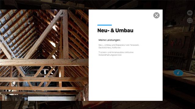 PopUp fenster in 360 Grad Websites by wylder